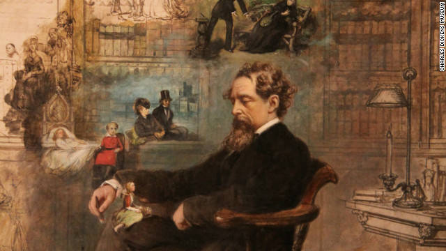 Dickens with his characters